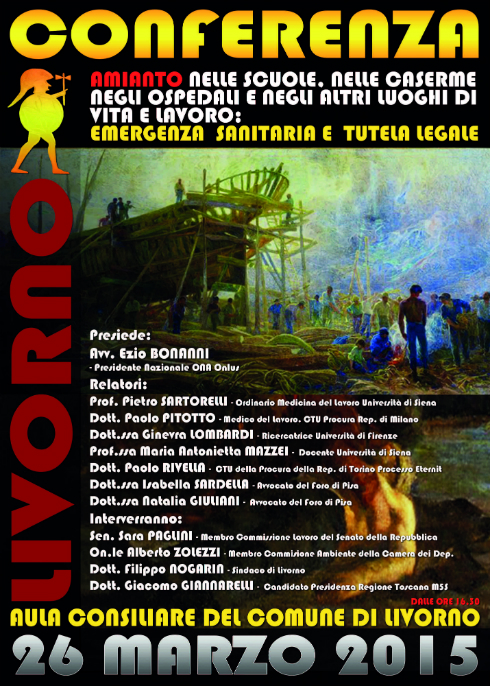 Convegno amianto nelle scuole Livorno