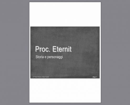 Diapositive processo Eternit Torino